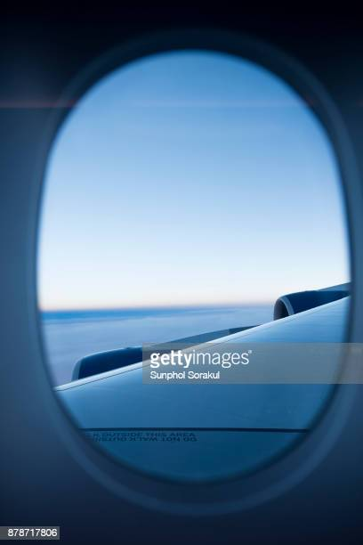View out of passenger aircraft's porthole