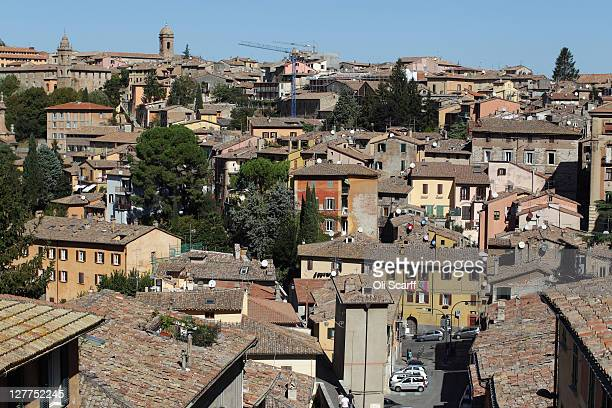A view out over the city of Perugia the capital of the central Italian region of Umbria on October 01 2011 in Perugia Italy Amanda Knox and Raffaele...