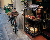 View outside a traditional food shop