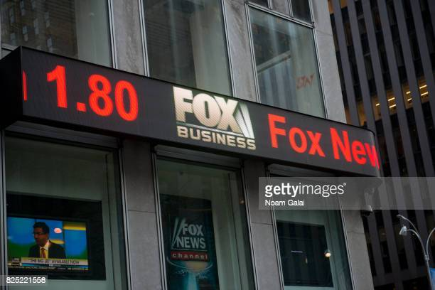 A view outside Fox News on August 1 2017 in New York City