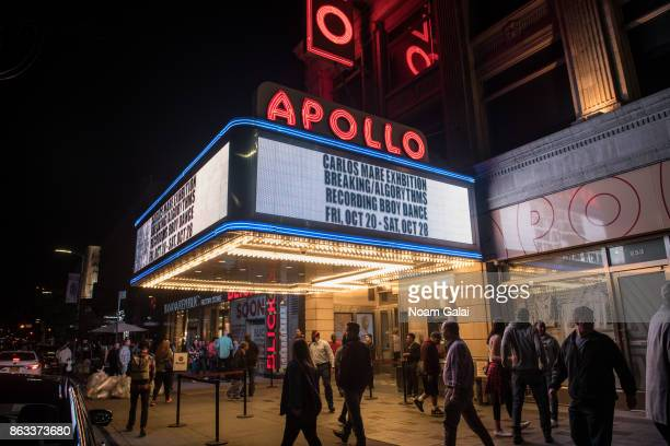 A view outside The Apollo Theater on October 19 2017 in New York City