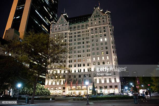 A view outside The Plaza Hotel on November 14 2016 in New York City