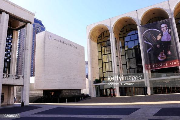 A view outside the tents at Lincoln Center during the Fall 2011 MercedesBenz Fashion Week at Lincoln Center on February 10 2011 in New York City