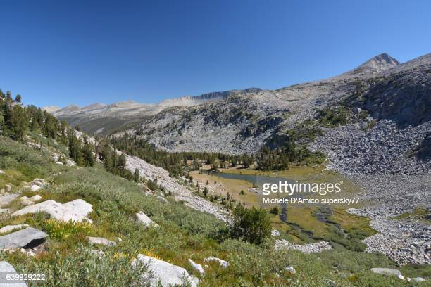 View over a canyon in the High Sierra