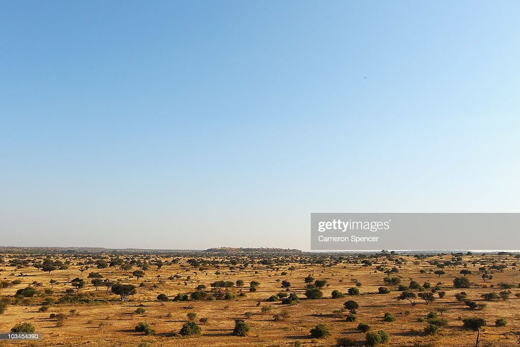 A view over a savanna at the Mashatu game reserve on July 27, 2010 in Mapungubwe, Botswana. Mashatu is a 46,000 hectare reserve located in Eastern Botswana where the Shashe river and Limpopo river meet.