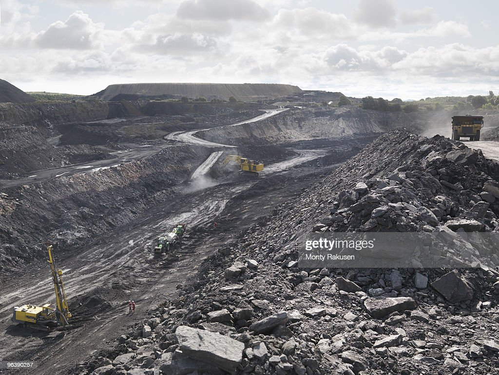 View Over Active Coal Mine