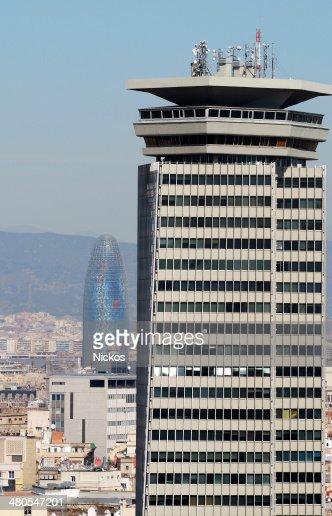 Vista de Barcelona.  Catalunha.  A Espanha : Foto de stock