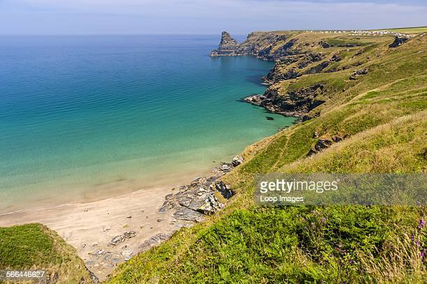 View over Benoath Cove on the north coast of Cornwall