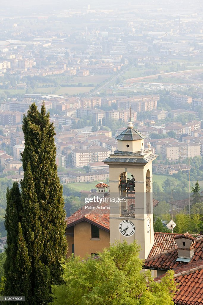 View over Bergamo, Lombardy, Italy : Stock Photo