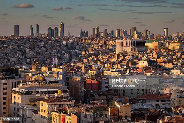 View over Beyoglu to city skyline