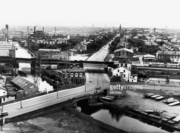 View over Bootle Liverpool from the top of a sixteen storey block of flats which is included in the Church Street redevelopment scheme of 199 homes...