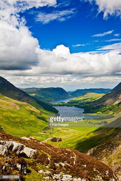 View over Buttermere and Crummock Water from the Haystacks path