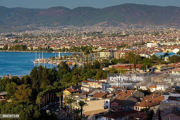 View over Fethiye town & harbour