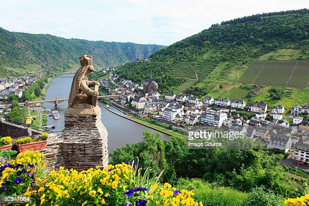 A view over german towns and the rhine