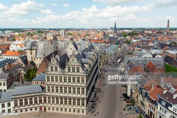 View over Ghent (Gent) Belgium