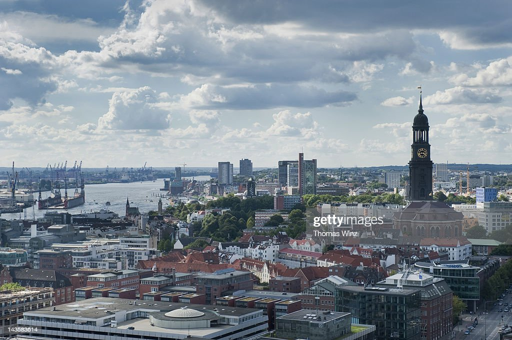 View over Hamburg : Stock Photo