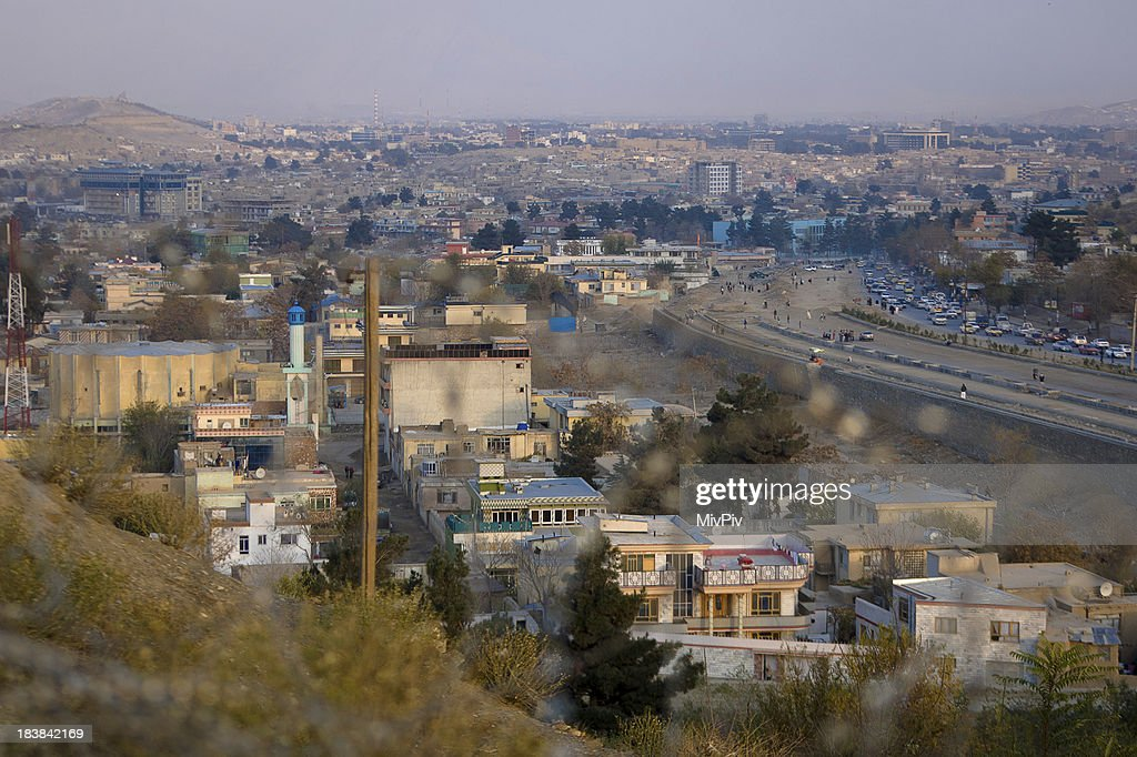 View over Kabul : Stockfoto