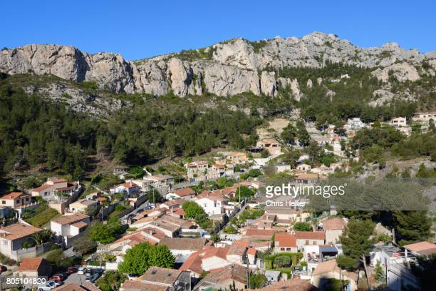View over La Vesse Coastal Village near Marseille Provence