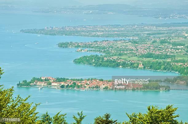 Blick auf Lake Constance von Lindau