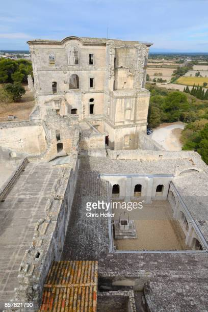 View over Maurist Monastery & Cloister of Montmajour Abbey Arles Provence