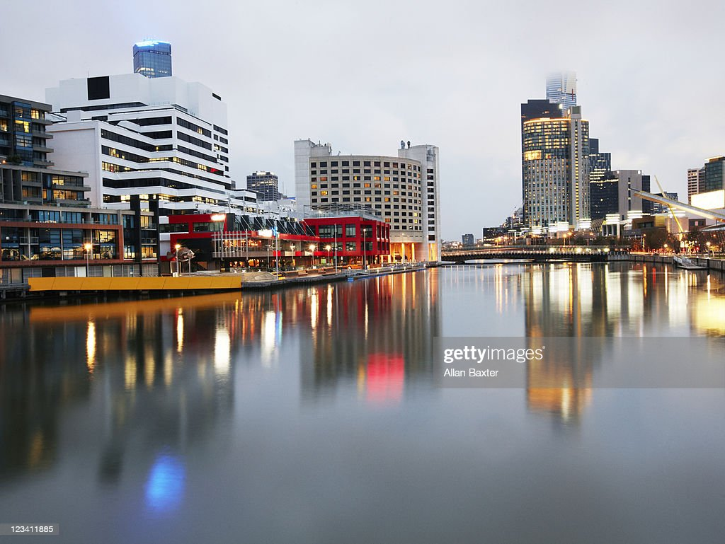 View over Melbourne and River Yarra