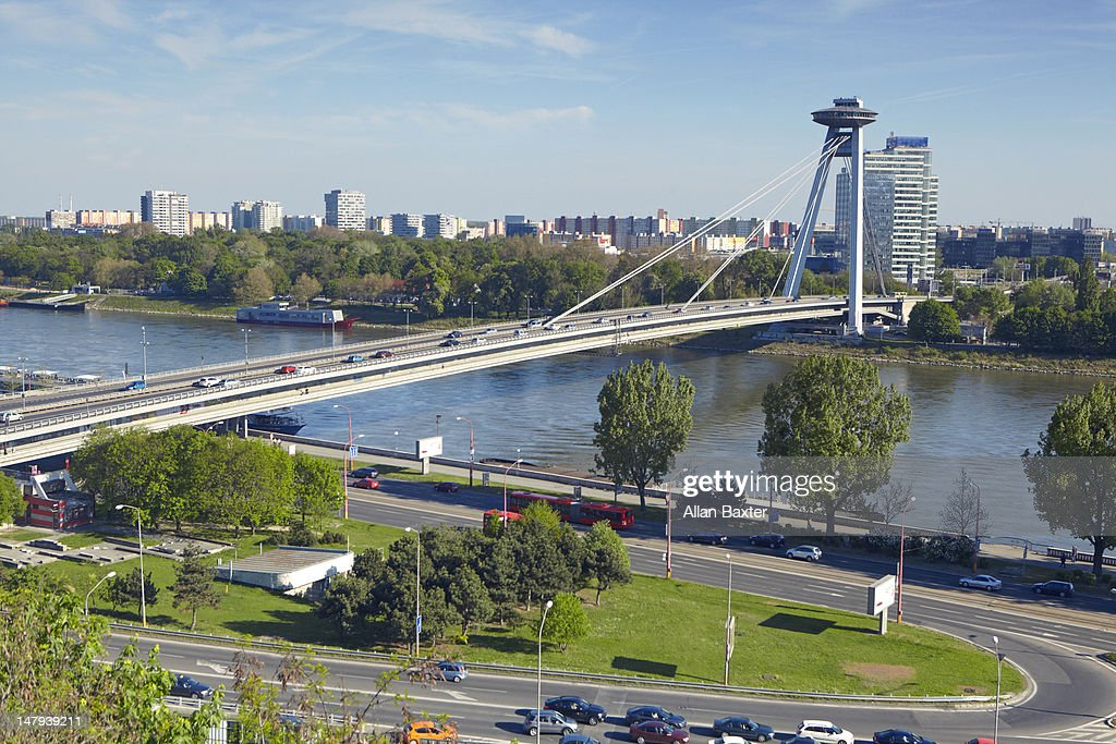 View over Novy Most bridge : Stock Photo