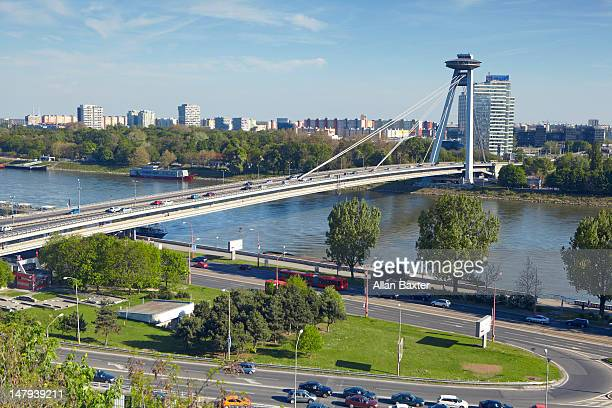 View over Novy Most bridge