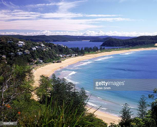 View over Palm Beach, Pittwater in distance, Sydney, New South Wales