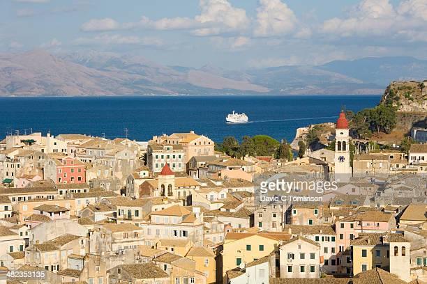 View over rooftops, Corfu Town, Corfu, Greece