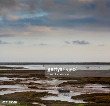 View over salt flats : Stock Photo
