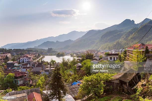 View over Sapa & lake, North Vietnam