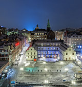 View over south Stockholm (Södermalm) in winter