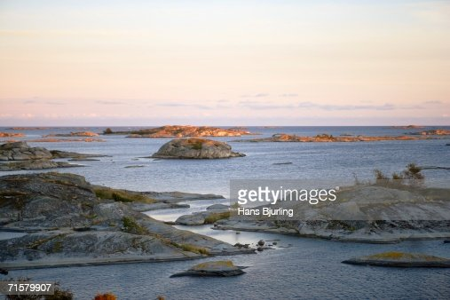 View over the archipelago in Stockholm. : Stock Photo
