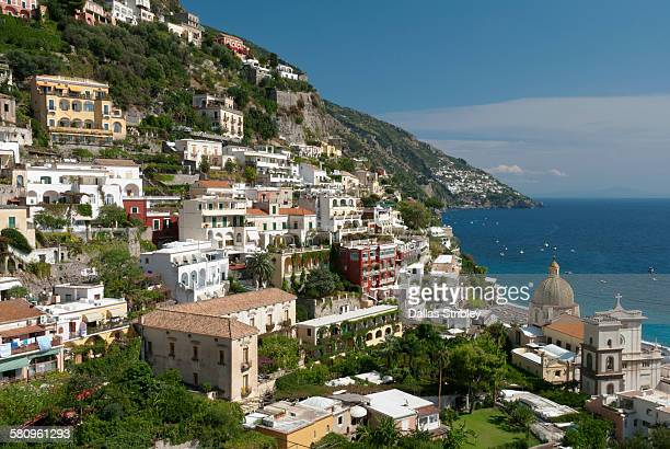 View over the beautiful town of Positano