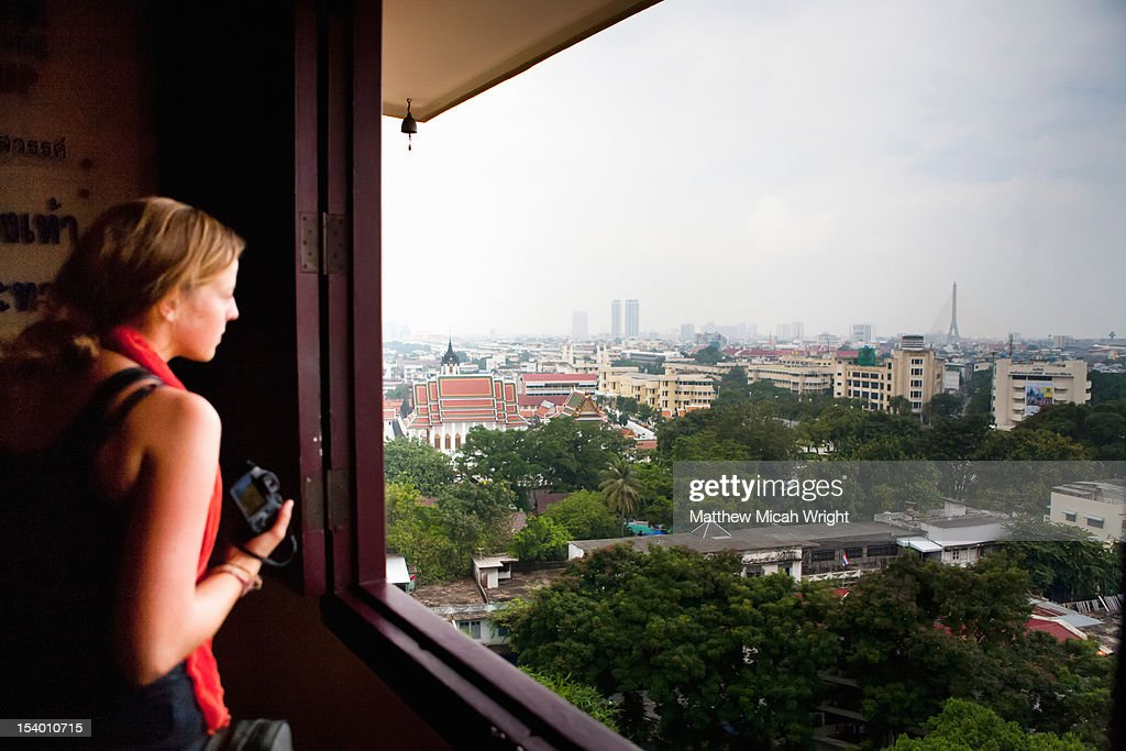 A view over the city of Bangkok. : Stock Photo