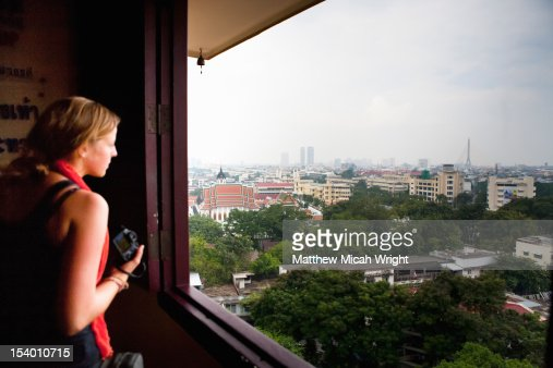 A view over the city of Bangkok. : ストックフォト