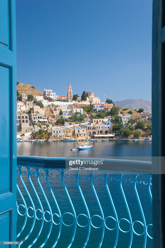 View over the harbour, Gialos, Symi, Greece