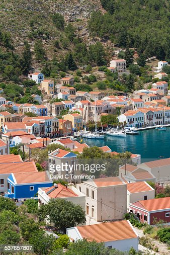 View over the harbour, Kastellorizo, Greece