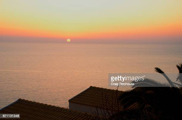View over the Ionian Sea at sunset.
