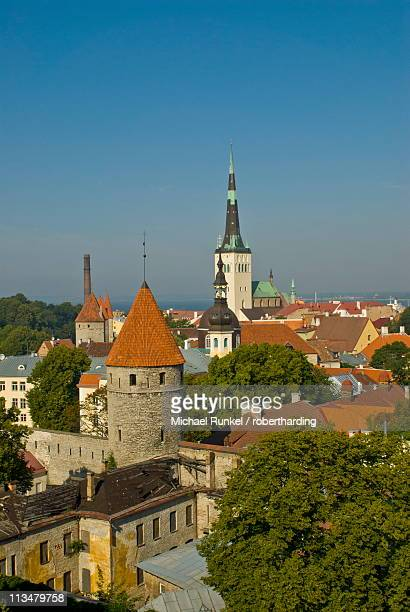 View over the Old Town of Tallinn, UNESCO World Heritage Site, Estonia, Baltic States, Europe