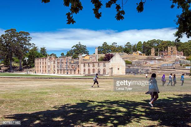 View over the Port Arthur Historical Site a former British penal station and now an openair museum