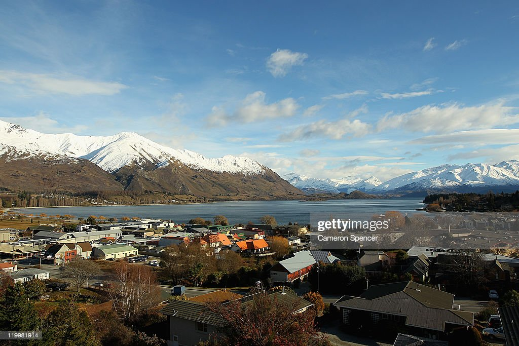 A view over the township of Wanaka and Mt. Aspiring on July 28, 2011 in Wanaka, New Zealand.