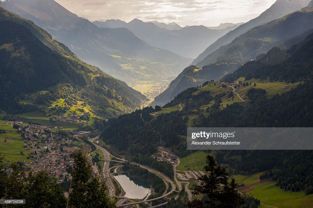 View over the Valley of Airolo