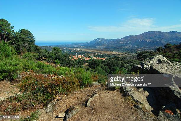 View over the village Calenzana