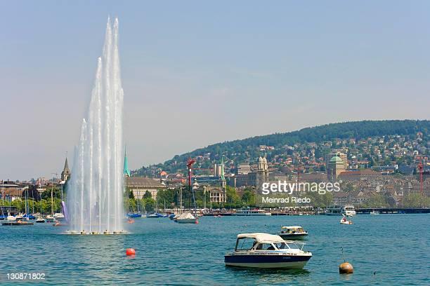 View over the Zurich Lake on Zurich, Switzerland