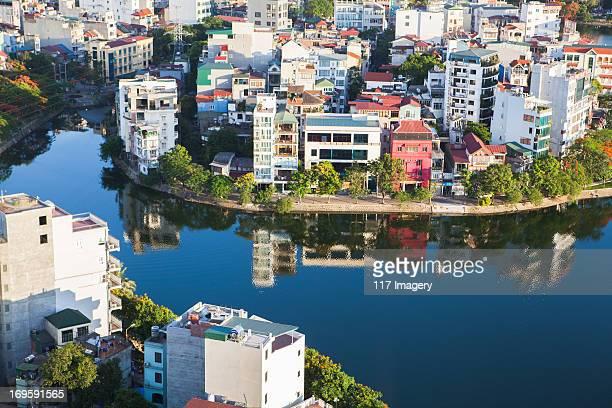 View over Truc Bach Lake, Hanoi, Vietnam