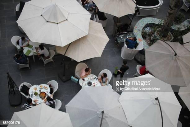 View Over Umbrellas