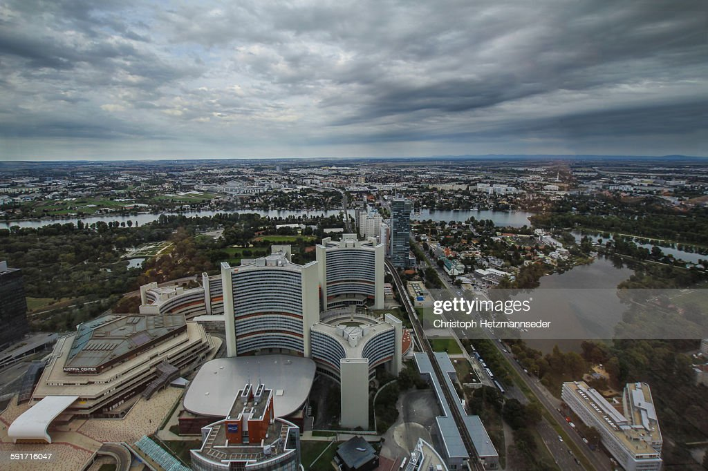 View over Vienna city : Stock Photo