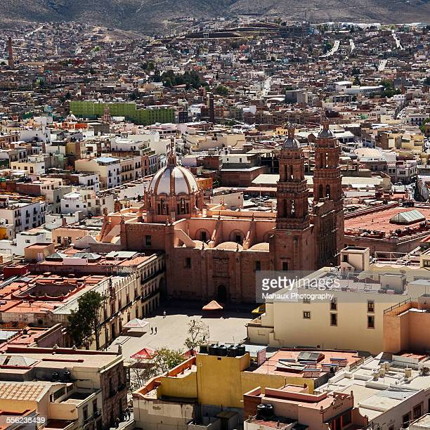 View over Zacatecas and its cathedral