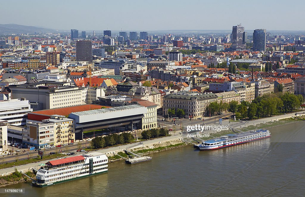 View overlooking Bratislava : Stock Photo